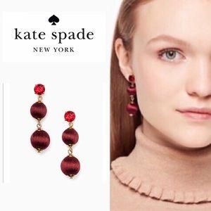 Kate Spade Burgundy Drop Earrings